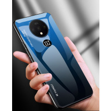 VAKU ® Oneplus 7T Dual Colored Gradient Effect Shiny Mirror Back Cover