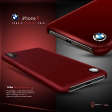 BMW ® Apple iPhone XS Max Liquid Silicon Luxurious Case Limited Edition Back Cover