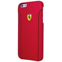 Ferrari ® Apple iPhone 6 Plus / 6S Plus 488 PistaSpider Double Stitched Dual-Material PU Leather Back Cover