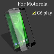 Dr. Vaku ® Motorola Moto G6 Play 5D Curved Edge Ultra-Strong Ultra-Clear Full Screen Tempered Glass Black