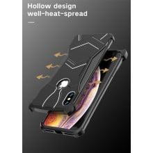 VAKU ® Apple iPhone X / XS Magnetic Panther Aluminium Metal Shock-Proof Anti-Fall Bumper Back Cover
