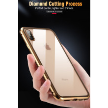Vaku ® Apple iPhone XS Max Dual Front + Back Tempered Magnetic Wireless Edition Aluminium CLUB Series Back Cover