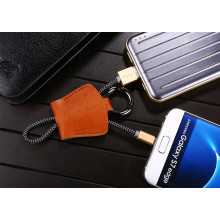 Joyroom ® Leather Keychain Series Micro USB port Charging / Data Cable + Key Chain