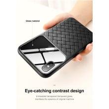 BASEUS ® Apple iPhone XS Max Weaving Glass Series Cross-Knitt Heat-Dissipation Edition Ultra-Thin TPU Back Cover