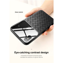 BASEUS ® Apple iPhone XS Weaving Glass Series Cross-Knitt Heat-Dissipation Edition Ultra-Thin TPU Back Cover