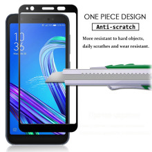 Dr. Vaku ® Asus Zenfone Max Pro M1 5D Curved Edge Ultra-Strong Ultra-Clear Full Screen Tempered Glass Black