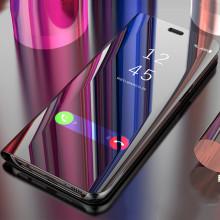 Vaku ® Apple iPhone 8 Mate Smart Awakening Mirror Folio Metal Electroplated PC Flip Cover