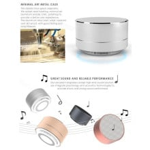 Free Music ® A10 Minimalist Style High Fidelity Bluetooth Speaker with Futuristic Reflective LED Light Speaker