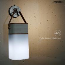 Rock ® Mulite Hands-free Digital Bluetooth Speakers with Inbuilt LED Light Lamp + AUX/Card Support Speaker