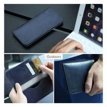 "Rock ® Universal upto 6"" Luxurious Universal Wallet Case Made of PU and microfiber material Pouch Case"