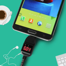 4FT ® Smart Digital LED Voltage/Current Display Android/Windows Micro USB Charging / Data Cable