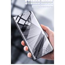 Vaku ® Vivo Y83 Mate Smart Awakening Mirror Folio Metal Electroplated PC Flip Cover