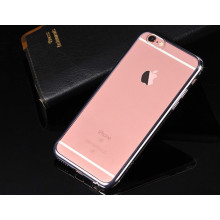 MeePhone ® Apple iPhone 6 / 6S Noble Series Metal Electroplating Bumper Transparent Back Cover