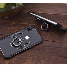 VAKU ® Apple iPhone XS Max Batman Black Aluminum Metal Back cover with 360 rotating Ring Holder