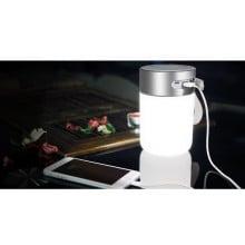 Rock ® Mulite-II Hands-free Digital Bluetooth Speakers with Inbuilt LED Light Lamp + Power Bank + SOS + AUX/Card Support Speaker