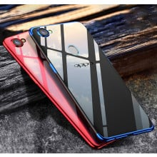 Vaku ® Oppo F7 CAUSEWAY Series Electroplated Shine Bumper Finish Full-View Display + Ultra-thin Transparent Back Cover