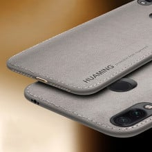 VAKU ® Xiaomi Redmi Note 7 / Note 7 Pro Luxico Series Hand-Stitched Cotton Textile Ultra Soft-Feel Shock-proof Water-proof Back Cover