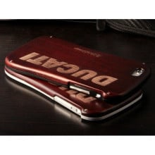 Ducati ® Apple iPhone 5 / 5S / SE Official Aluminium Metal Frame Laser Engraved Wood Case Back Cover Wood