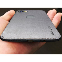 Vaku ® Vivo Y83 Luxico Series Hand-Stitched Cotton Textile Ultra Soft-Feel Shock-proof Water-proof Back Cover