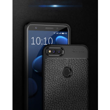 Vaku ® Huawei Honor 7X Kowloon Double-Stitch Edition Silicone Leather Texture Finish Ultra-Thin Back Cover