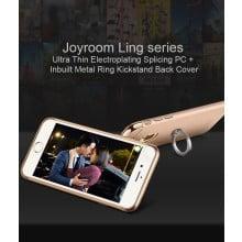 Joyroom ® Apple iPhone 6 Plus / 6S Plus Ling series Ultra Thin Electroplating Splicing PC + Inbuilt Metal Ring Kickstand Back Cover