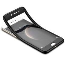 Vaku ® VIVO V5s / V5 7D Series PC Case  Dual-Colour Finish 3-in-1 Ultra-thin Slim Front Case + Tempered + Back Cover