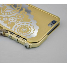 Simon ® Apple iPhone 6 / 6S Metallic Mechanical Trigger Arm Premium Aluminium Gear Bumper + Back Cover