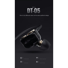 DZAT ® Quad-core Dual Moving Coil Design In-ear SubWoofer + Noise Cancelling 3.5mm Stereo Ear phone Gold Plated