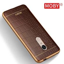 VAKU ® XIAOMI Redmi Note 4 European Leather Stiched Gold Electroplated Soft TPU Back Cover