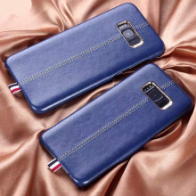 Vorson ® Samsung Galaxy Note 8 Lexza Series Double Stitch Leather Shell with Metallic Camera Protection Back Cover