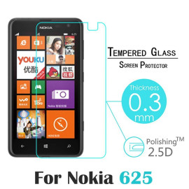 Dr. Vaku ® Microsoft Lumia 625 Ultra-thin 0.2mm 2.5D Curved Edge Tempered Glass Screen Protector Transparent
