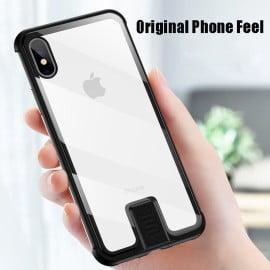 Vaku ® Apple iPhone XS Max Metal Slider Toughened Glass Finish Back Cover