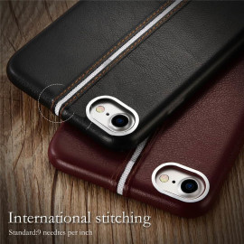 VAKU ® Apple iPhone 7 LEXZA 3rd Series Stitch Leather Shell Back Cover