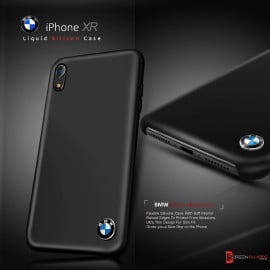BMW ® Apple iPhone XR Liquid Silicon Luxurious Case Limited Edition Back Cover