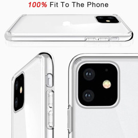 Vaku ® Glassy Anti-Yellow 6ft Drop Case for iPhone 11 [only Back Cover]