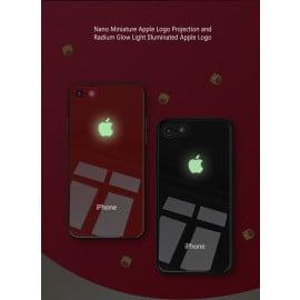 VAKU ® Apple iPhone 8 3D Logo Projector Radium Glow LED Case Back Cover