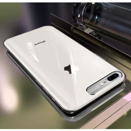 Vaku ® Apple iPhone 8 Plus Metal Camera Ultra-Clear Transparent View with Anodized Aluminium Finish Back Cover