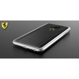Ferrari ® Samsung S7 Official 599 GTB Logo Double Stitched Dual-Material Pure Leather Back Cover
