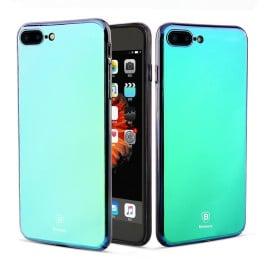 Baseus ® Apple iPhone 8 Plus Glass Series Ultra-Shine Luxurious Mirror Finish Translucent Back Cover