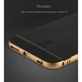 Baseus ® Apple iPhone 6 / 6S Fusion-Pro Hybrid Metal + TPU Leather Finish x2 Case Back Cover