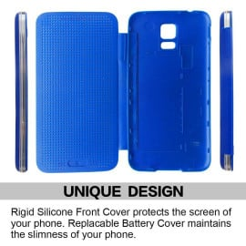 DotView ™ Samsung Galaxy S5 / G900 Dot View LED Case Flip Cover
