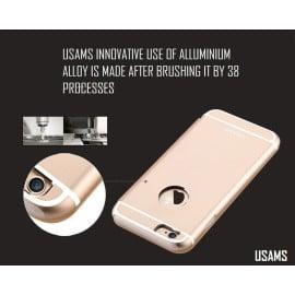 Usams ® Apple iPhone 6 Plus / 6S Plus Sailling Metallic Chrome Finish Flip Cover