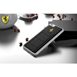 Ferrari ® Apple iPhone 6 / 6S Official 599 GTB Logo Double Stitched Dual-Material PU Leather Back Cover