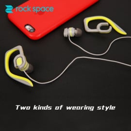 Rock ® Y7 Stereo two kind wearing style Earphone with OFC Cable + Gold Plated Jack + Microphone Earphone