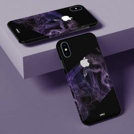 Vaku ® Apple iPhone X / XS Purple Smoke Designer Print Back Cover
