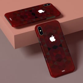 Vaku ® Apple iPhone X / XS Red Cube Abstract Designer Print Back Cover