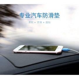 Rock ® Anti-slip Anti-Bump Leather Texture Silicon Car Dashboard Mat Car Holder Black