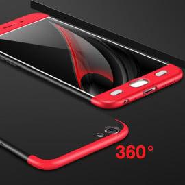 FCK ® VIVO V5 / V5s 5 IN 1 360 Series Silicon Case  Dual-Colour Finish 3-in-1 Ultra-thin Slim Front Case + Tempered + Back Cover