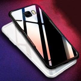 Vaku ® Samsung Galaxy C9 Pro GLASSINO Luxurious Edition Ultra-Shine Silicone Frame Ultra-Thin Case Transparent Back Cover