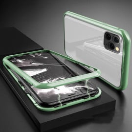 Vaku ® Apple iPhone 11 Pro Max  Electronic Auto-Fit Magnetic Wireless Edition Aluminium Ultra-Thin CLUB Series Back Cover